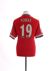 1998-00 Manchester United Home Shirt Yorke #19 XL