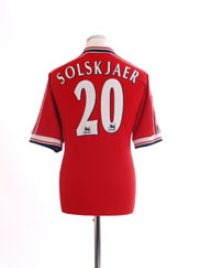 1998-00 Manchester United Home Shirt Solskjaer #20 XL