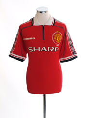 1998-00 Manchester United 'Treble Winners' Home Shirt L