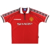 1998-00 Manchester United Umbro Home Shirt Beckham #7 Y