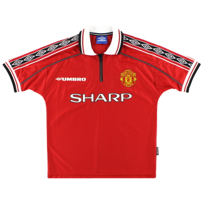1998-00 Manchester United Umbro Home Shirt Y