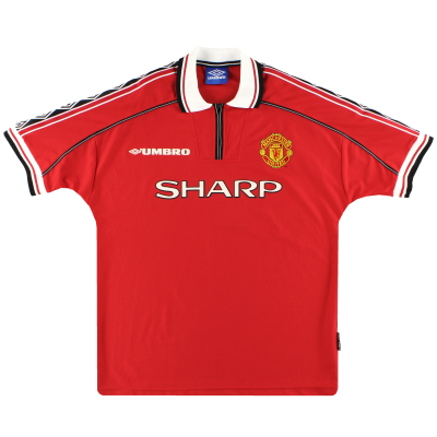 1998-00 Manchester United Umbro Home Shirt L