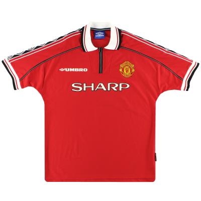 1998-00 Manchester United Umbro Home Shirt L