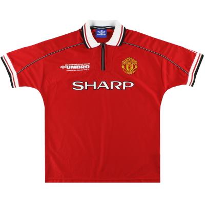 1998-00 Manchester United Umbro 'CL Winners' Home Shirt *Mint* L