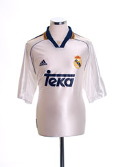 1998-00 Real Madrid Home Shirt *Mint* L