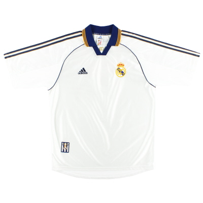 1998-00 Real Madrid adidas Home Shirt L