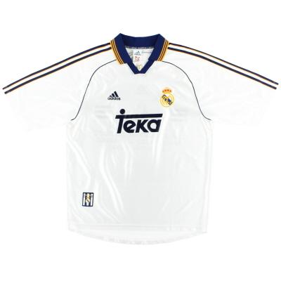 1998-00 Real Madrid adidas Home Shirt M