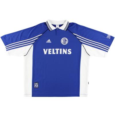 1998-00 Schalke adidas Home Shirt M
