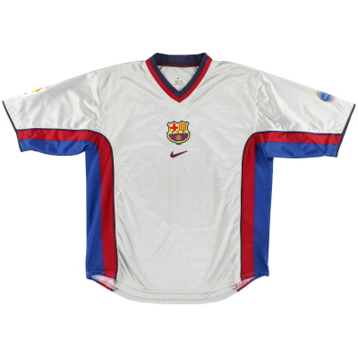 1998-01 Barcelona Away Shirt XL