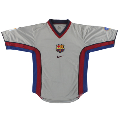 1998-01 Barcelona Nike Player Issue Away Shirt S