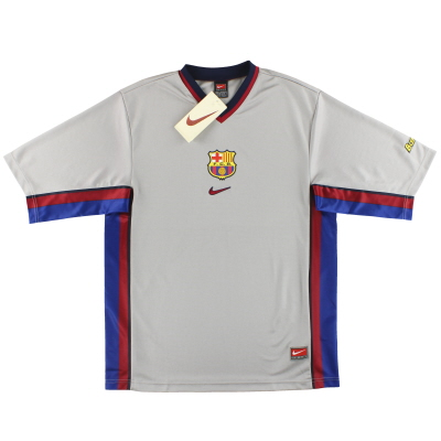 1998-01 Barcelona Nike Basic Away Shirt *BNIB* 2XL