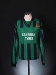 1998-99 Aberystwyth Town 'Intertoto Cup 1999' Home Shirt L/S XL