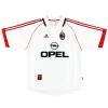 1998-99 AC Milan Match Worn Away Shirt Leonardo #18 XL