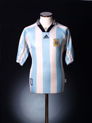 1998-99 Argentina Home Shirt XL
