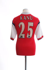 1998-99 Arsenal Home Shirt Kanu #25 M