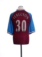 1998-99 Aston Villa Home Shirt Ferguson #30 XL