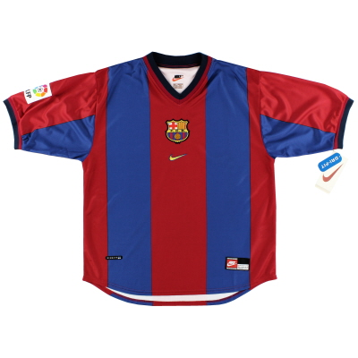 1998-99 Barcelona Home Shirt *Mint* L