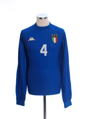 1998-99 Italy Match Issue Home Shirt #4 L/S L