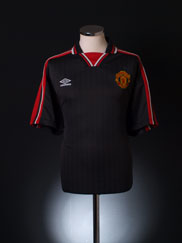 1998-99 Manchester United Training Polo Shirt M