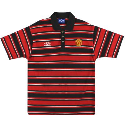 1998-99 Manchester United Umbro Polo Shirt XL