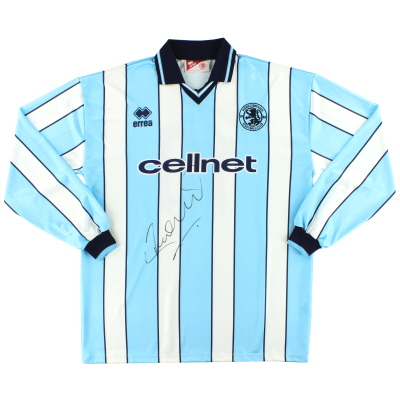 1998-99 Middlesbrough Match Issue Signed Away Shirt #10 L/S XXXL