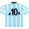 1998-99 Middlesbrough Errea Match Issue Signed Away Shirt #10 L/S XXXL