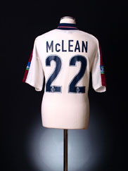 1998-99 Oldham Match Issue/Worn Away Shirt McLean #22 XL