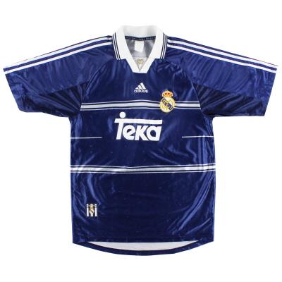 1998-99 Real Madrid adidas Away Shirt XL