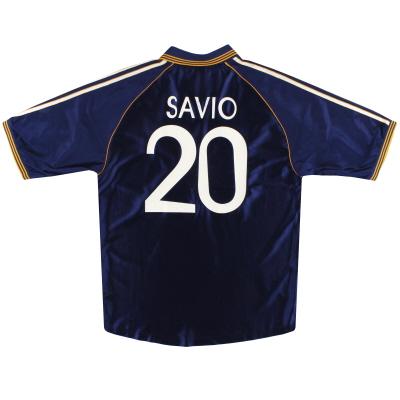 1998-99 Real Madrid adidas Third Shirt Savio #20 L