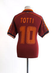 1998-99 Roma Home Shirt Totti #10 L