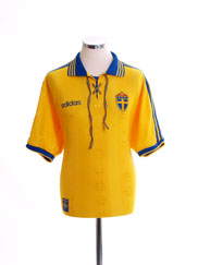 1998-99 Sweden Home Shirt *Mint* XL