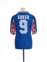 1998 Croatia 'World Cup' Away Shirt Suker #9 XL