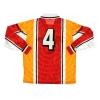 1998 Nagoya Grampus Eight Match Issue Home Shirt #4 L/S XL