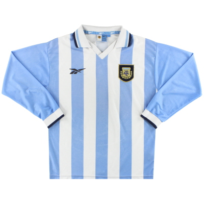 1999-00 Argentina Reebok Home Shirt L/S S