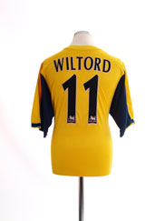 1999-01 Arsenal Away Shirt Wiltord #11 XL