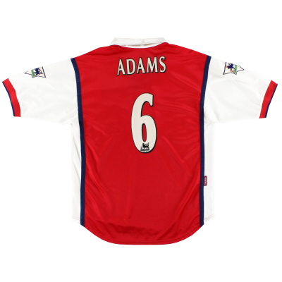 1999-00 Arsenal Nike Home Shirt Adams #6 M