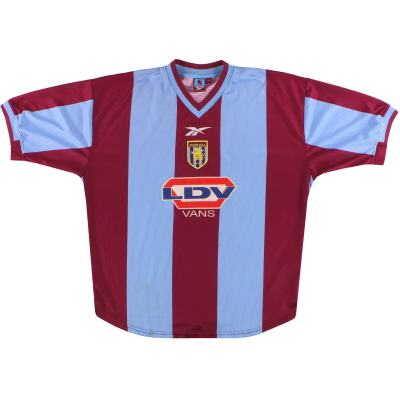 1999-00 Aston Villa Reebok Home Shirt L