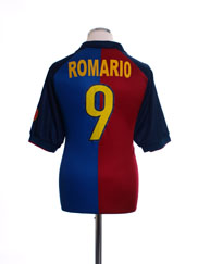 1999-00 Barcelona Centenary Home Shirt Romario #9 M