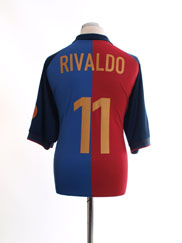 1999-00 Barcelona Centenary Home Shirt Rivaldo #11 XL