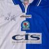 1999-00 Blackburn Match Issue Home Shirt Blake #14 L/S XL