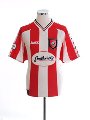 1999-00 Derry City Home Shirt S