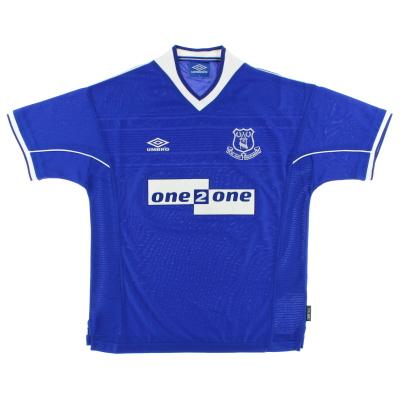 1999-00 Everton Home Shirt L.Boys