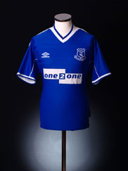1999-00 Everton Home Shirt L.Boys