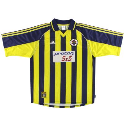 1999-00 Fenerbahce adidas Home Shirt M