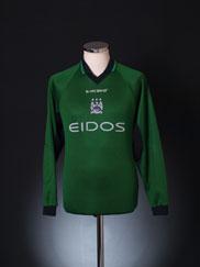 1999-00 Manchester City Goalkeeper Shirt L.Boys