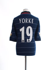1999-00 Manchester United Away Shirt Yorke #19 L