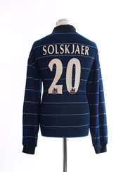 1999-00 Manchester United Away Shirt Solskjaer #20 L/S M