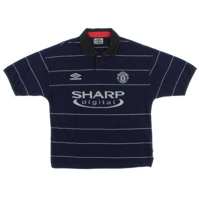 1999-00 Manchester United Away Shirt L