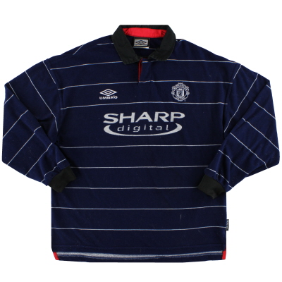 1999-00 Manchester United Umbro Away Shirt L/S L