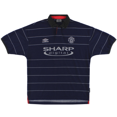 1999-00 Manchester United Umbro Away Shirt L